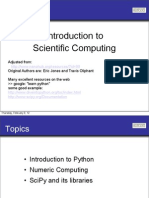 Introduction to Scientific Computing Using Python
