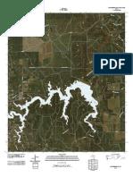 Topographic Map of Justiceburg SE