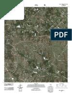 Topographic Map of Pecan Creek