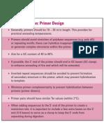 PCR Optimization Primer Design