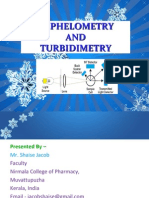 NEPHLOMETRY  AND TURBIDIMETRY PPT