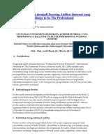 Tantangan Untuk Menjadi Seorang Auditor Internal Yang Profesional
