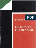 Friedrich Nietzsche Dionisovi Ditirambi
