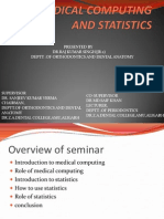 Medical Computing and Statistics