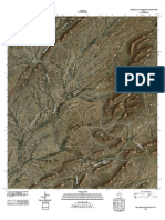Topographic Map of Pena Blanca Mountains