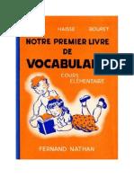 Langue Française Lecture courante CE1 Mon premier livre de vocabulaire 1951