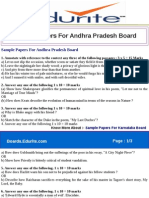 Sample Papers for Andhra Pradesh Board
