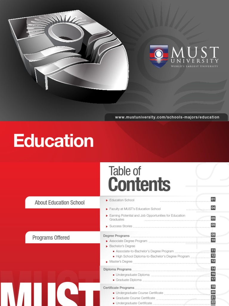 Strive For A Better Tomorrow With Must University Course Credit