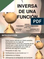 INVERSA DE UNA FUNCIÓN