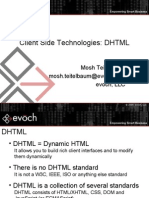 Client Side Technologies - DHTML