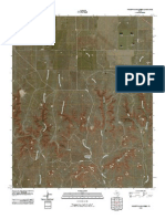 Topographic Map of Pickett Ranch Creek