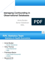 Managing Confounding in Observational Databases