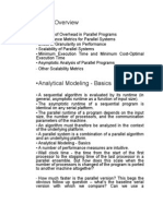 Analytical Modeling of Parallel Programmes