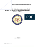 Afghan Reconstruction Report