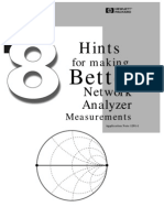 HP-AN1291!1!8 Hints for Making Better Network Analyzer Measurements
