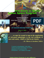 International Goals in Space - Indian Space Programme