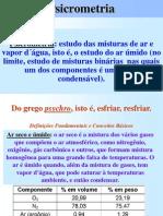 Ar Condicionado Psicrometria Processos