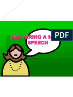 Delivering a Short Speech