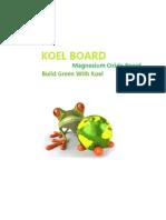 Koelboard Catalog -  Magnesium Oxide Board
