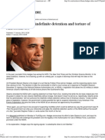 Obama Sued Over Indefinite Detention and Torture of Americans A