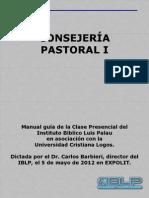 Manual Guía Consejería Pastoral I