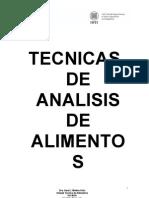 TECNICAS DE ANALISIS DE ALIMENTOS