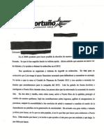 Carta de Fortuño extorsionando a contratistas