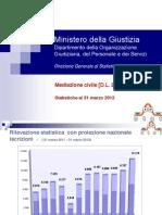 Statistiche Mediazione Civile Fino a 31 Marzo 2012
