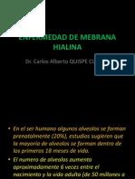 hyaline membrane disease, neonatal respiratory distress enfermedad de membrana hialina