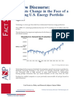 A New Discourse- Climate Change in the Face of a Shifting U.S. Energy Portfolio