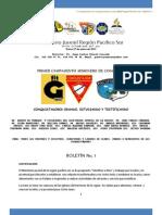 Boletin 1 Conquistadores 2012 REGION PAS
