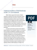 Political Realities of Bold Reforms of the U.S. Government