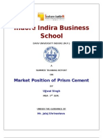 brand positioning of prism cement