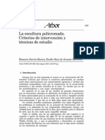 Escultura policromada. Criterios de intervención y tecnicas de estudio