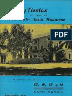 Programa fiestas Doña Mencia 1970