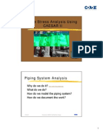 Piping stress Analysis using CAESAR II
