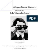 Integrity Florida - Corruption Risk Report - Financial Disclosure