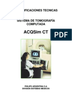MANUAL TOMÓGRAFO Especificaciones ACQSim CT 480V 60Hz revB