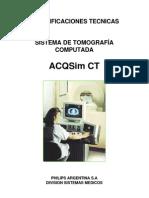 MANUAL TOMÓGRAFO Especificaciones ACQSim CT 480V 60Hz revB