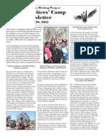 YWC Newsletter 2012