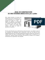Manual de Construcción de una Vivienda Básica de 6,1x3m