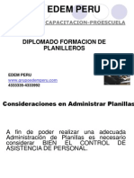 Diplomado de Planillas 2011