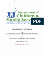 Chafee Foster Care Indep Prog Req for Proposal, LA DCFS, 2012