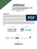 The 4th Latin America China Investors Forum (LA-CIF)