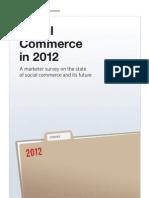 Social Commerce in 2012 (Reevoo) -MAY12