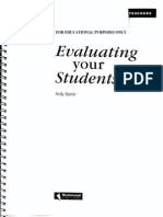 Assessment and Evaluation - Chapters From Baxter's Evaluating Your Students