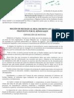 Mocion Contra Bajada Desempleo Rajoy