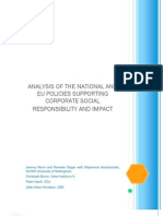 Analysis of National and EU Policies Supporting CSR and Impact. IMPACT Working Paper No. 2