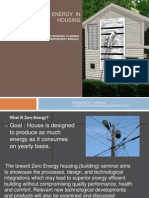 Designing the Zero Energy in HOUSING 111