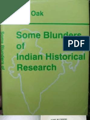 SomeBlundersOfIndianHistoricalResearcCh Text   Hindu   Delhi